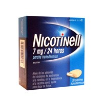 NICOTINELL 7 mg/24 HORAS PARCHES  TRANSDERMICOS , 28 parches
