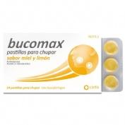 BUCOMAX PASTILLAS PARA CHUPAR SABOR MIEL Y LIMON , 24 pastillas